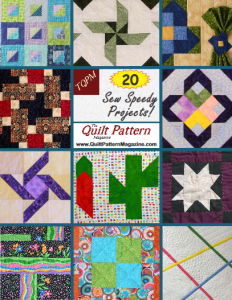 """20 Sew Speedy Quilt Projects"" Special Edition from ""The Quilt Pattern Magazine"""